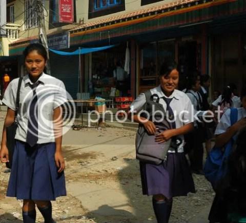 Nepal schoolgirls Kathmandu