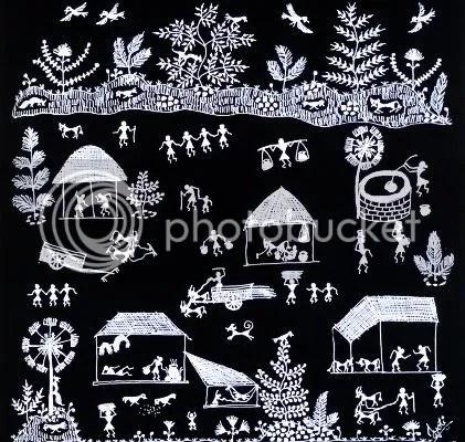 Warli folk art, Maharashtra region, India