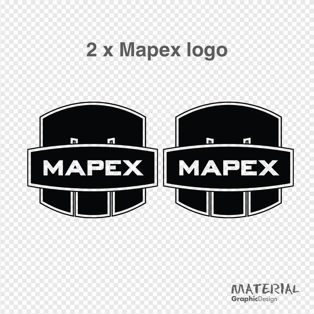 2x Mapex Drums Logo Sticker Decal