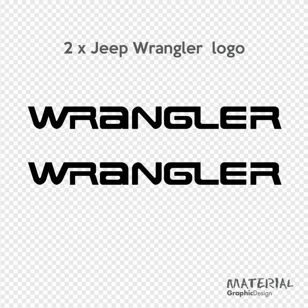 2x Jeep Wrangler Logo Sticker Decal