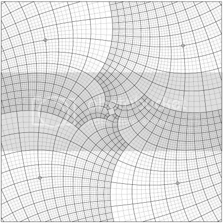 computer generated grid of