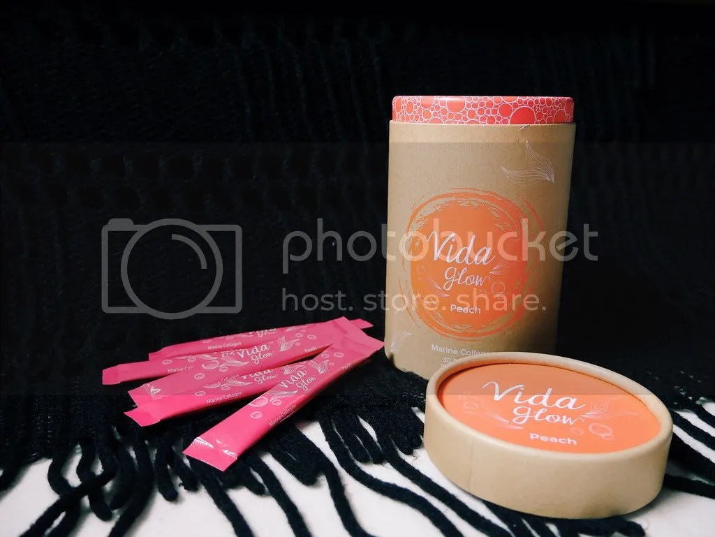 Peach flavoured collagen Vida Glow