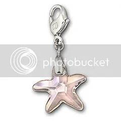 Swarovski Silk Starfish Charm
