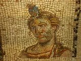 mosaic head of a woman