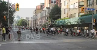 Car free yesterday as bike lane protesters take over Jarvis St.