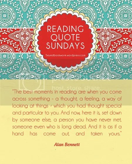 Reading Quote Sundays #3 Five Eyed Bookworm