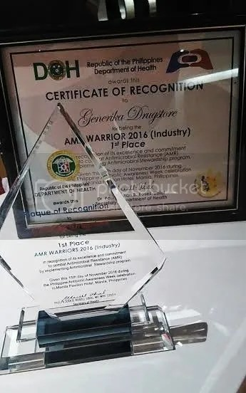 Generika Drugstore Receives DOH Award for Public Health Advocacy