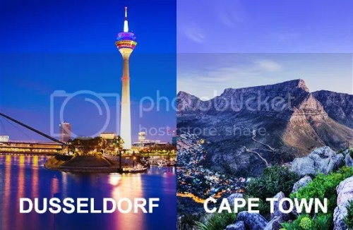 Singapore Airlines Dusseldorf and Cape Town
