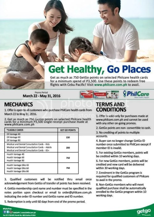 PhilCare and GetGo Rewards Partnership. Get Healthy. Go Places.