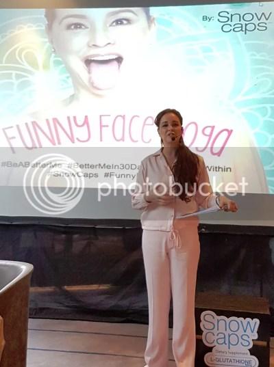 Snow Caps Glutathione Vivien Tan Funny Face Yoga