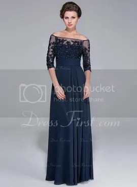 Princess Off-the-Shoulder Floor-Length Chiffon Tulle Mother of the Bride Dress With Lace Beading Sequins