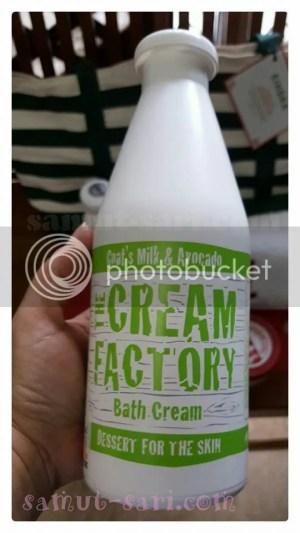 The Cream Factory Goat's Milk & Avocado Bath Cream