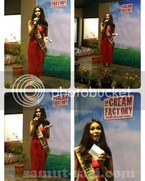 The Cream Factory Brand Ambassador Miss Earth 2015 Angelia Ong