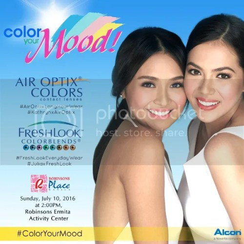 Freshlook & Air Optix Colors with Kathryn Bernardo #ColorYourMood