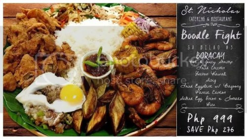 St. Nicholas Catering and Restaurant Boodle Fight sa Bilao Set 3 on SALE!
