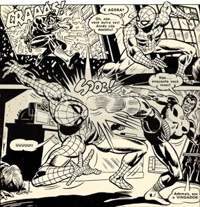 Detalhe da página 18 da revista O Homem Aranha 63 - CLIQUE AQUI PARA AMPLIAR
