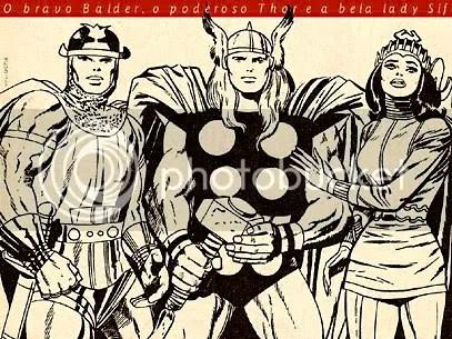 Thor, Lady Sif e Balder - Clique para ampliar