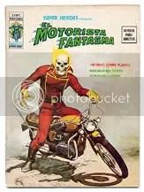 El Motorista Fantasma - Capa - Clique para ampliar