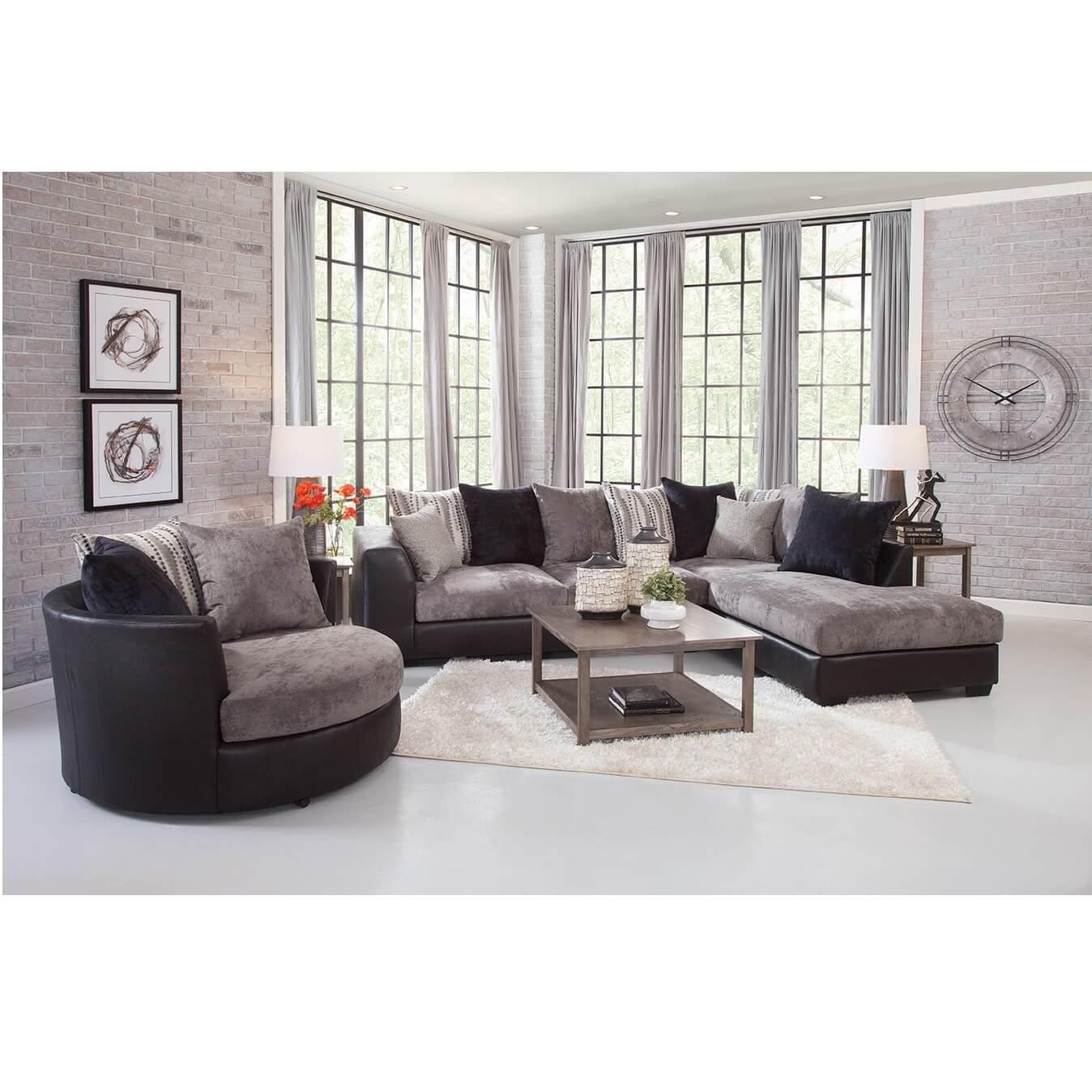 3 piece jamal chaise sofa sectional with barrel chair