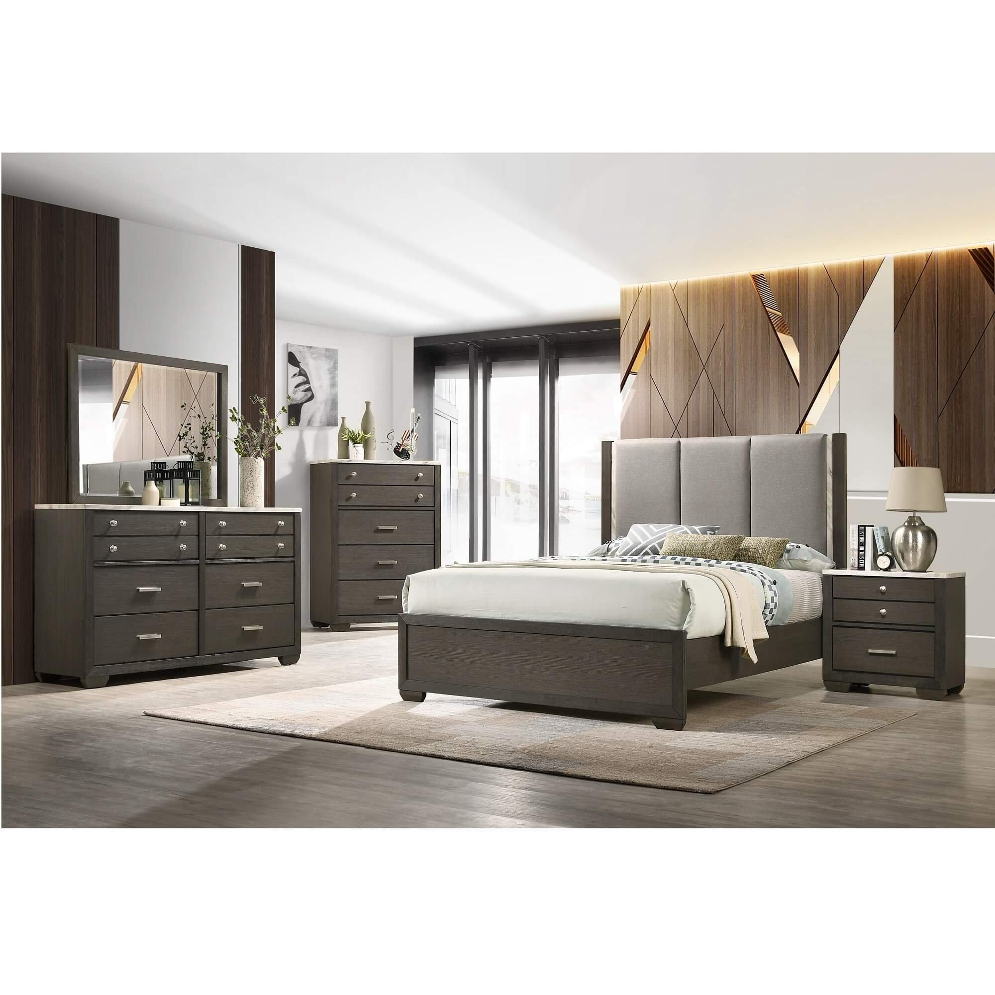7 piece milan queen bedroom collection