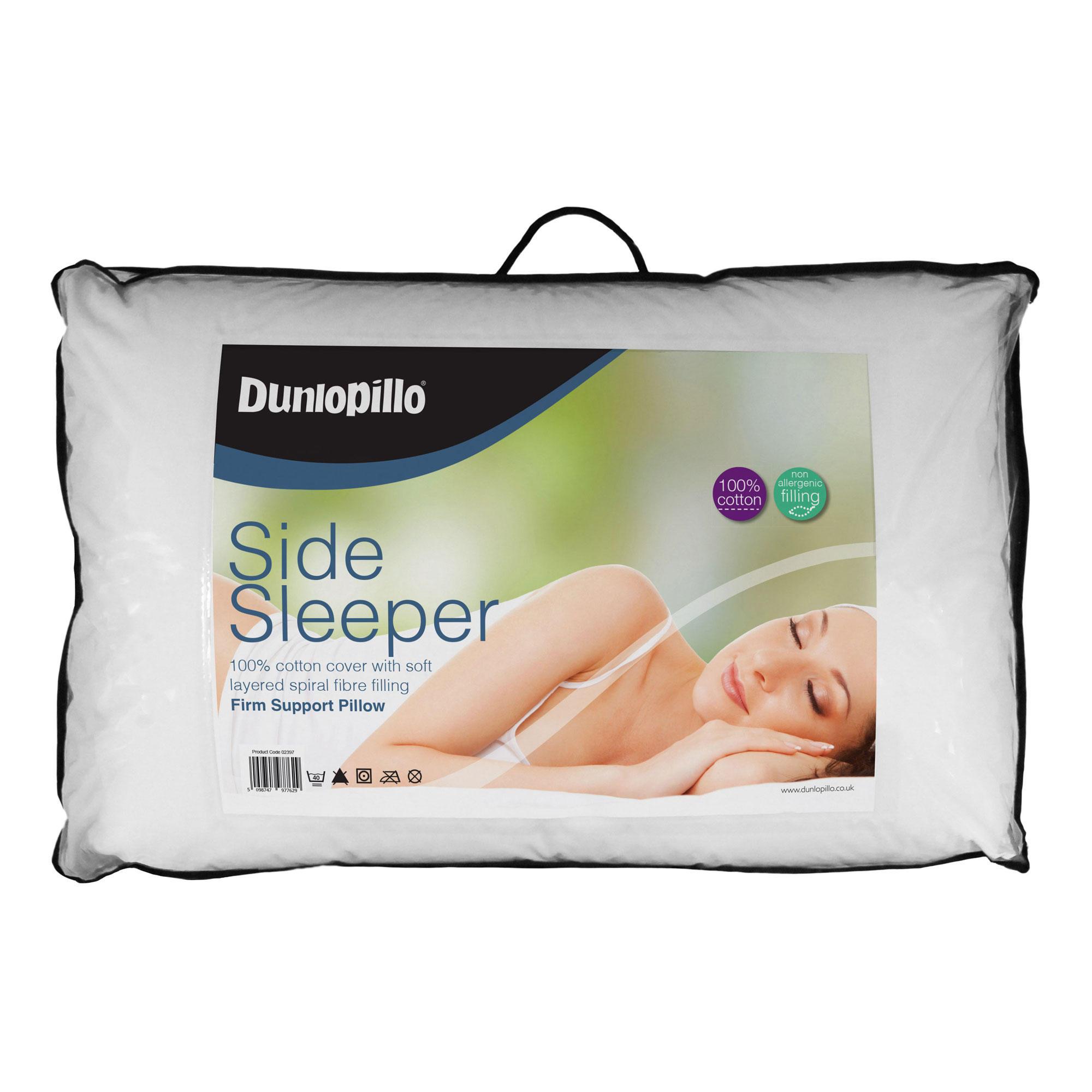 dunlopillo side sleeper pillow white
