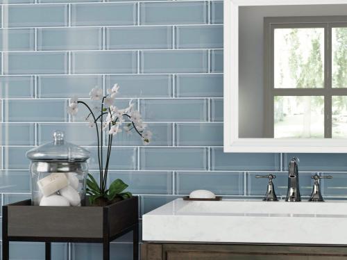 icelandic blue ice glass tile 4 x 12