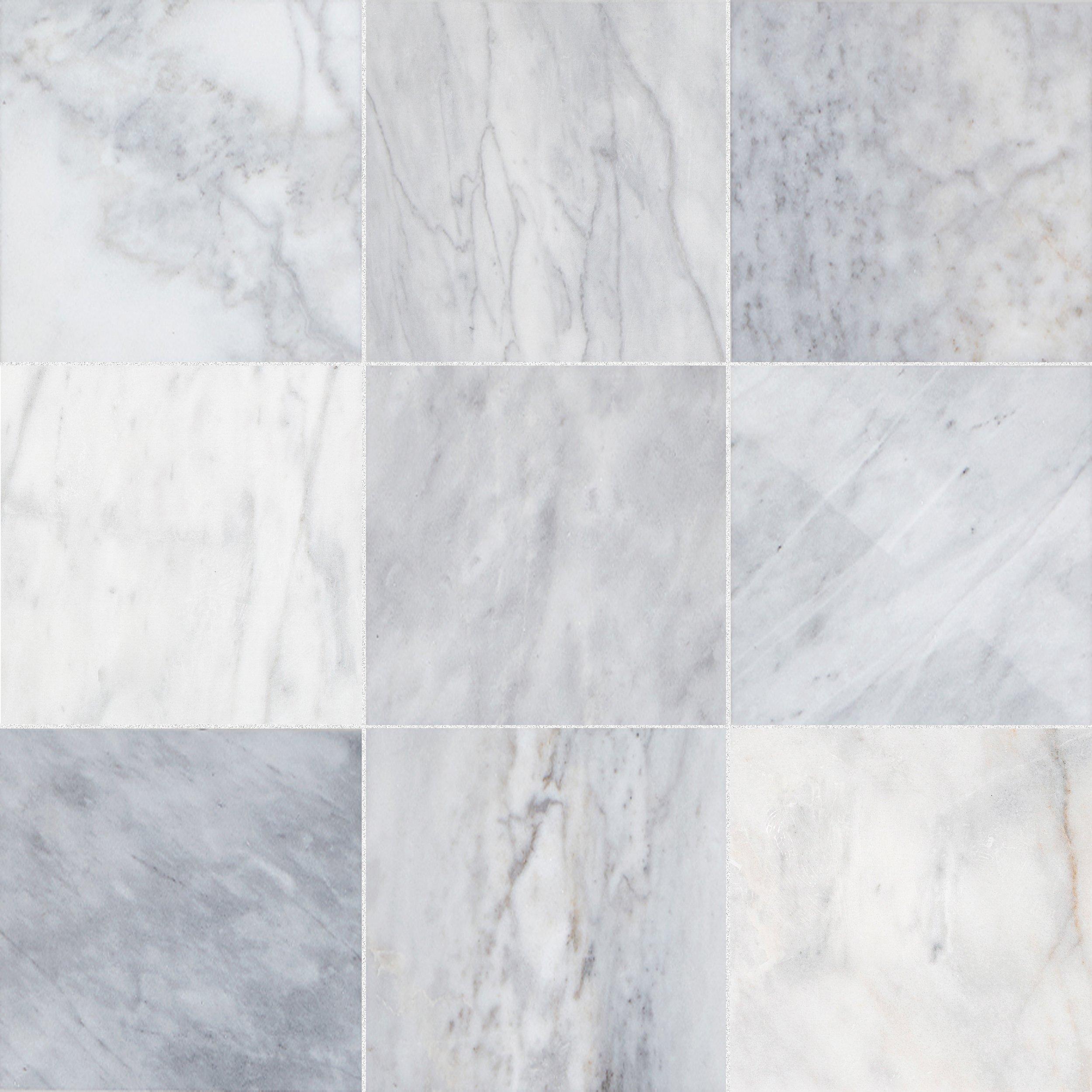 ocean white marble tile 12 x 12