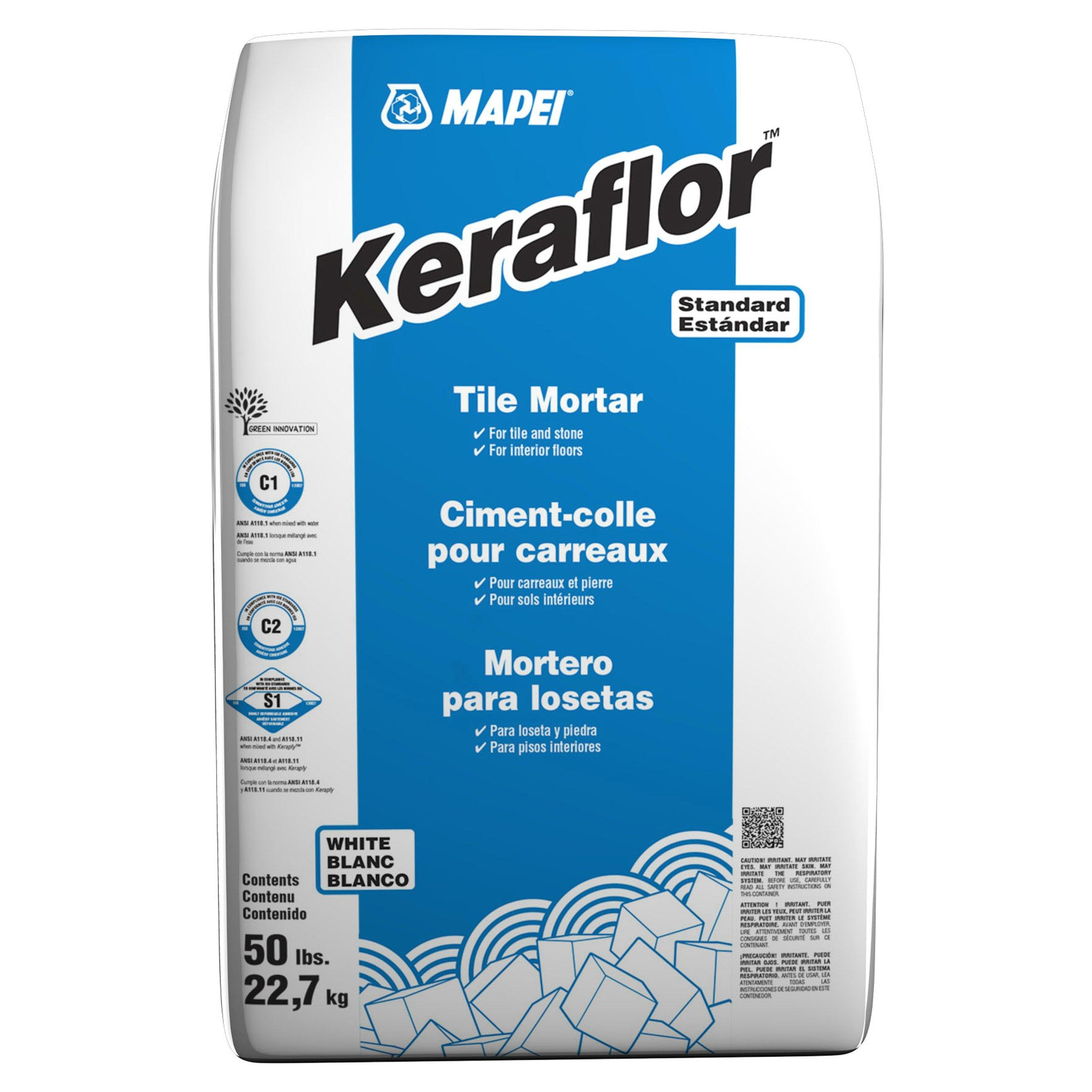mapei keraflor white floor tile thin set mortar