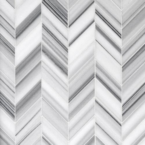 skyfall chevron marble mosaic 8 x 11