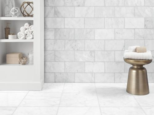 Marble Tiles provides luxury and exclusivity to any home by adding rich textures patterns and endless decor possibilities. Carrara Milano Honed Marble Tile 6 X 12 100402569 Floor And Decor