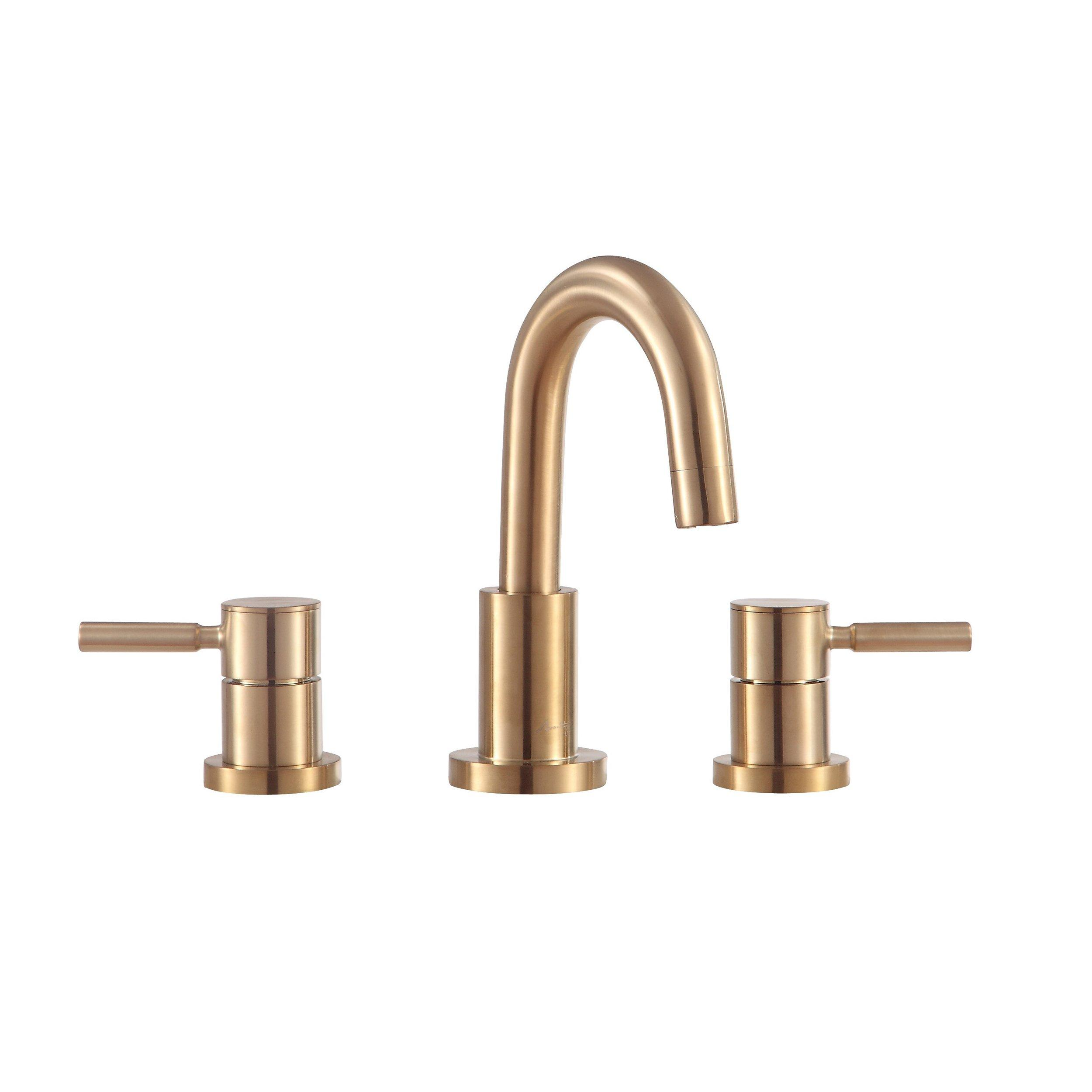 matte gold 8 in widespread faucet