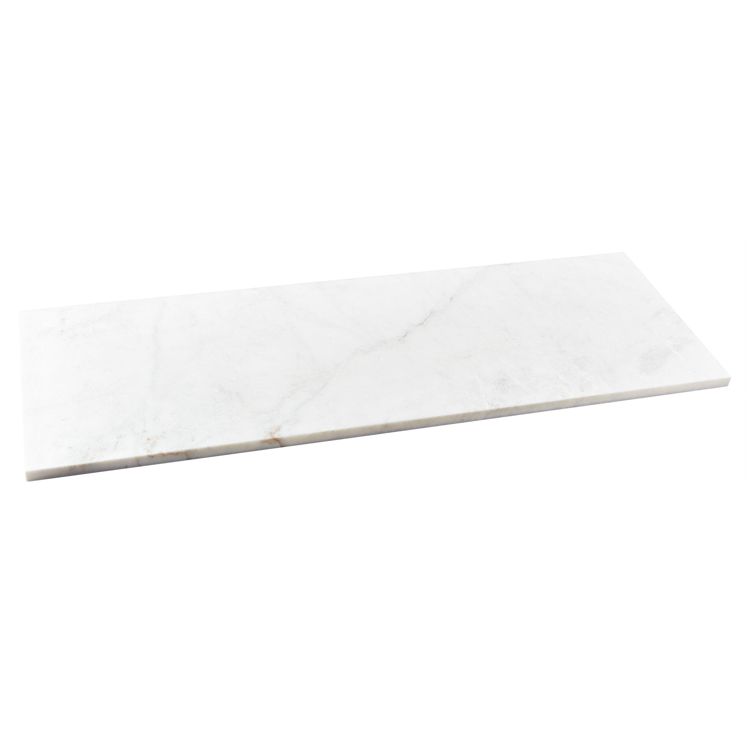 bianco orion marble rectangle shower bench