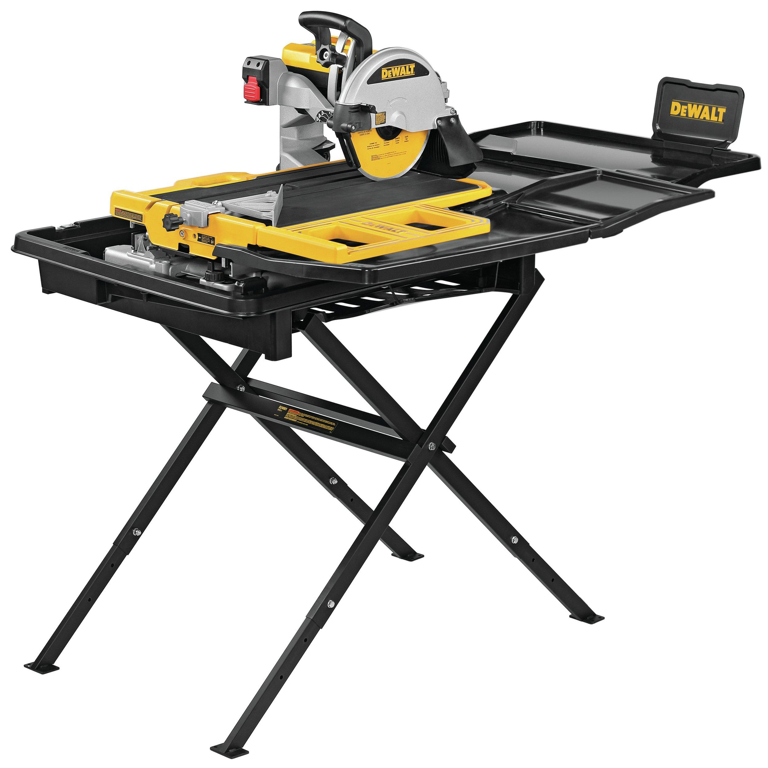 dewalt 10in high capacity wet tile saw with stand