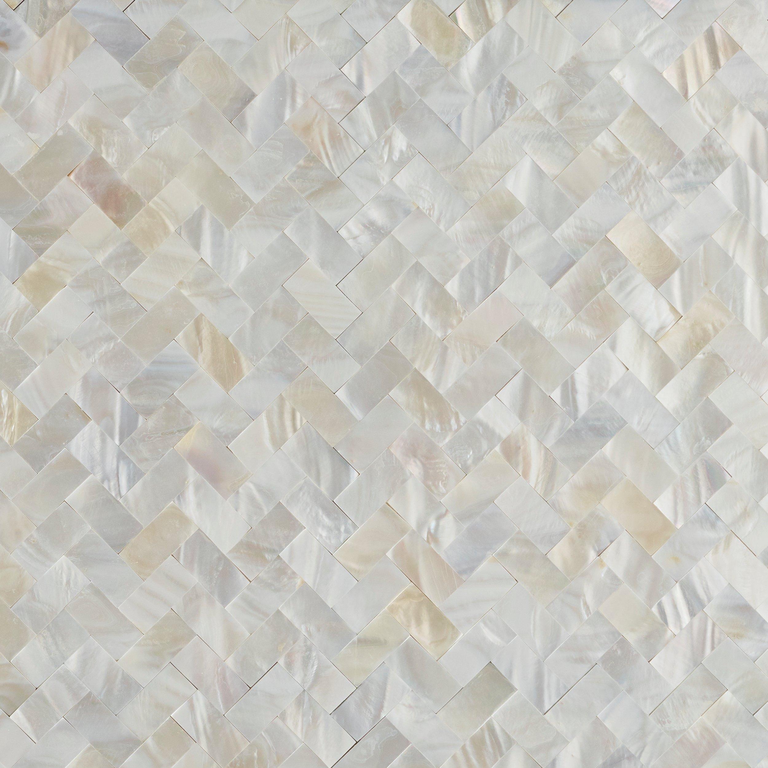 mother of pearl marble herringbone peel and stick tile