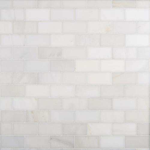carrara white honed marble tile 3 x 6