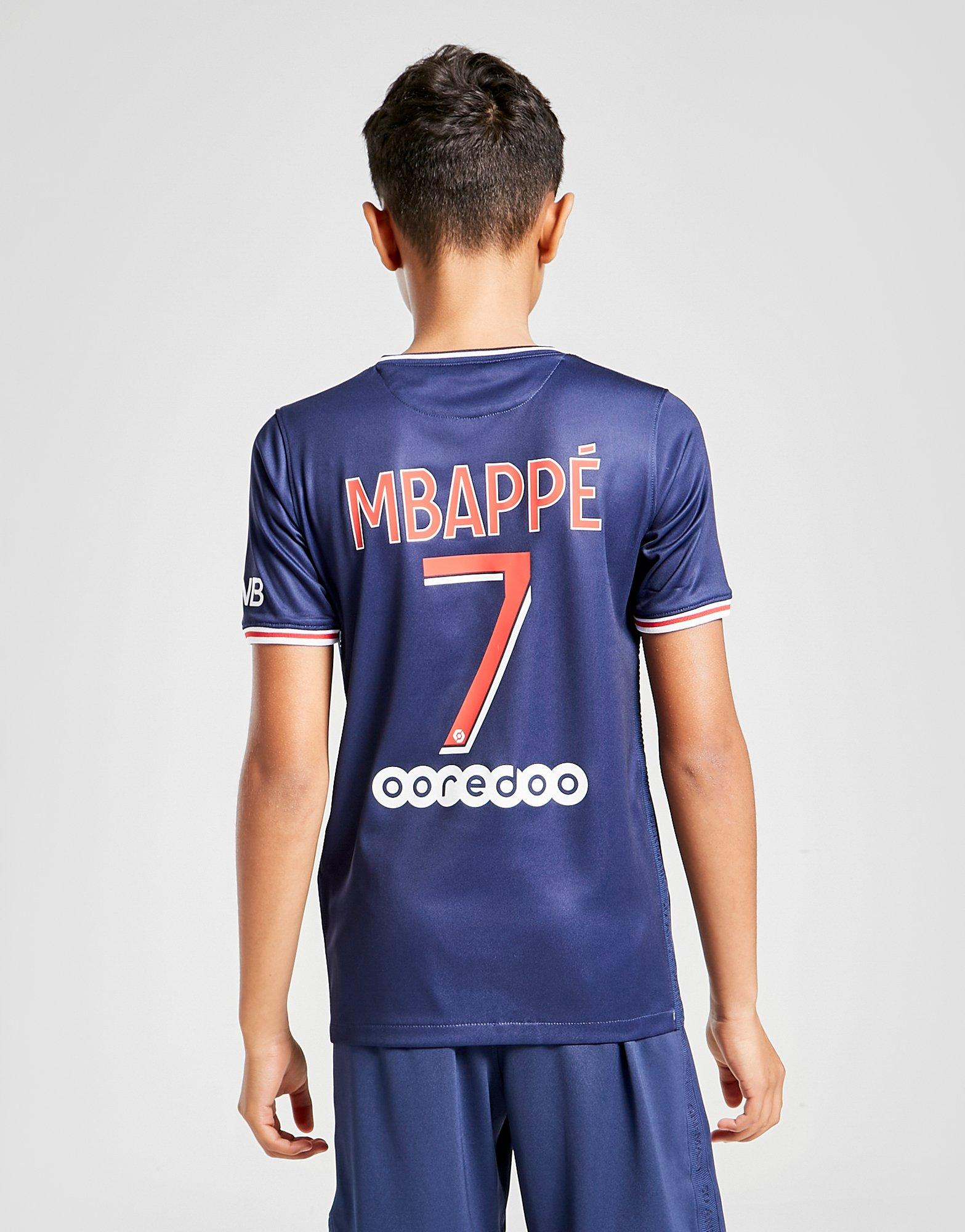 nike paris saint germain 20 21 mbappe 7 home shirt jnr jd sports