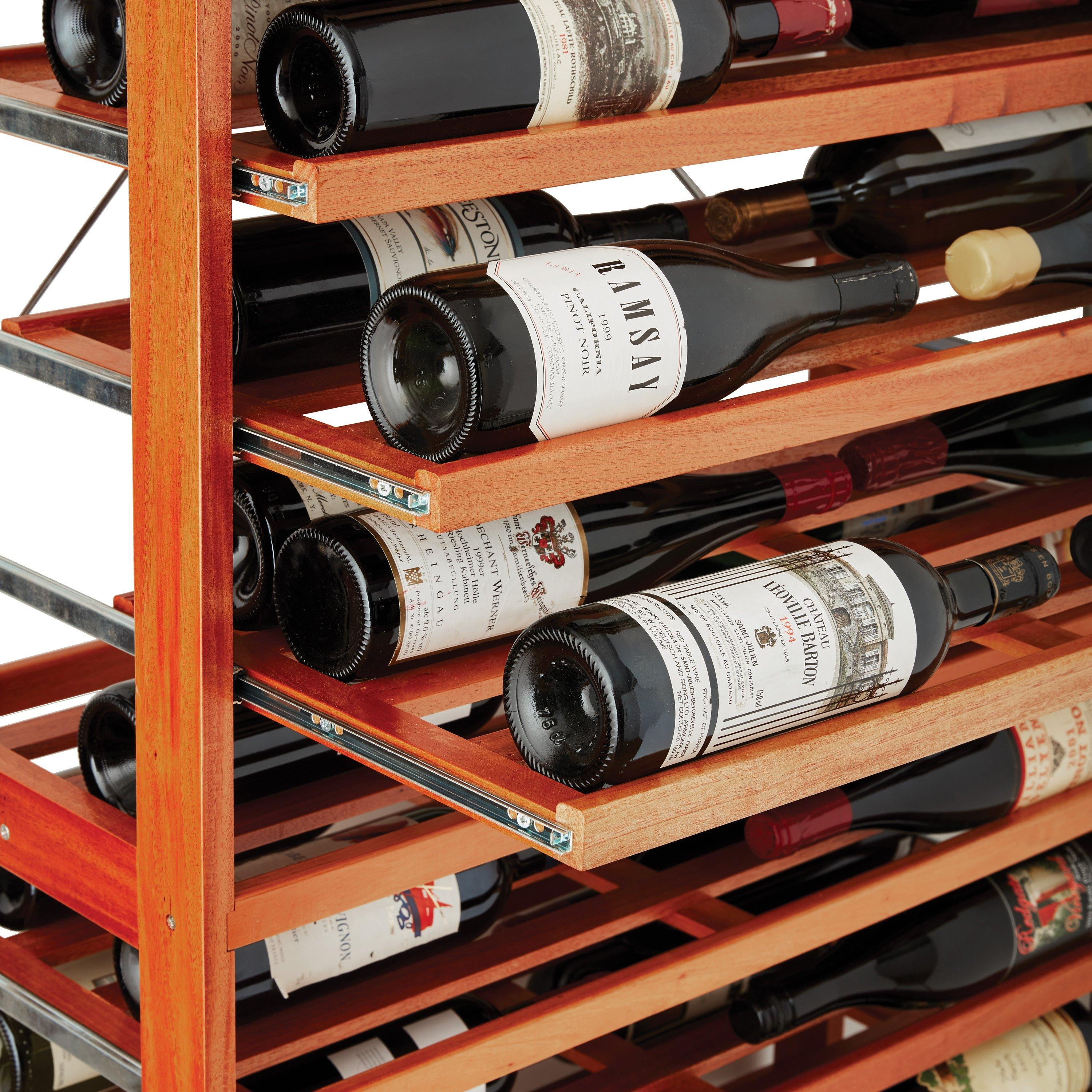 n finity label view wine rack kit with rolling shelves