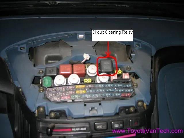 Toyota Previa Fuse Box