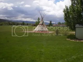 Teepee on property