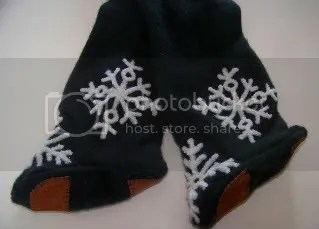 Snowflake footed recycled wool longies