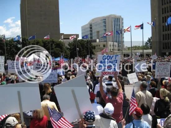 Tea Party versus the liberal media.