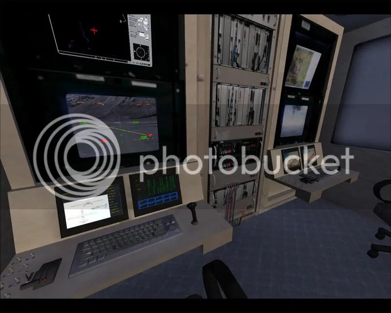 Cabina Virtual, donde podemos movernos por el centro de control