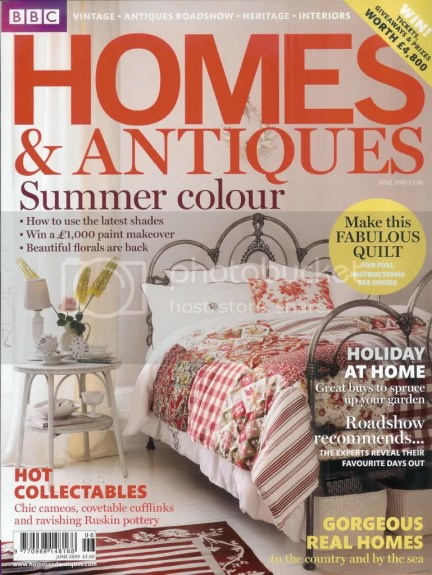 Homes and Antiques magazine cover, June 2009