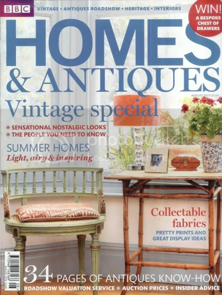 BBC Homes & Antiques magazine, August 2010