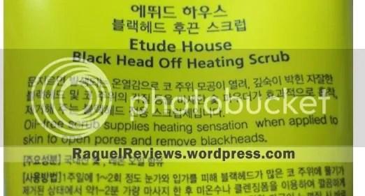Black Head Off Heating Scrub