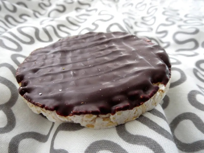 chocolate covered rice cake