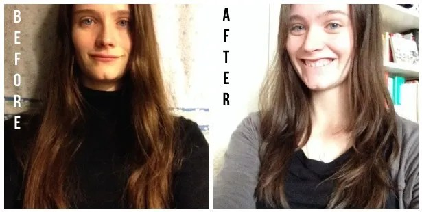 diy haircut before after