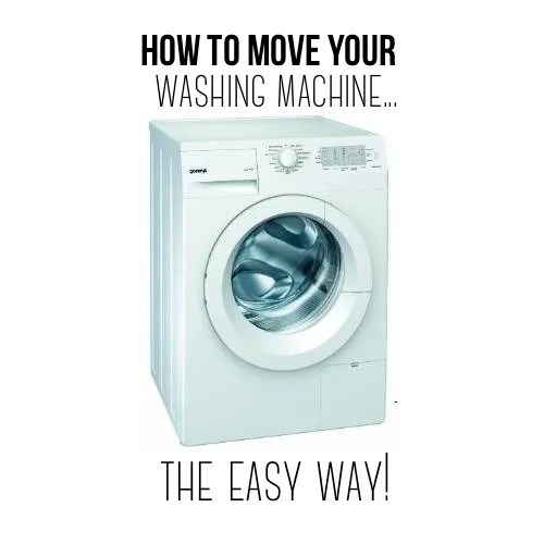 How to move your washing machine...the easy way!