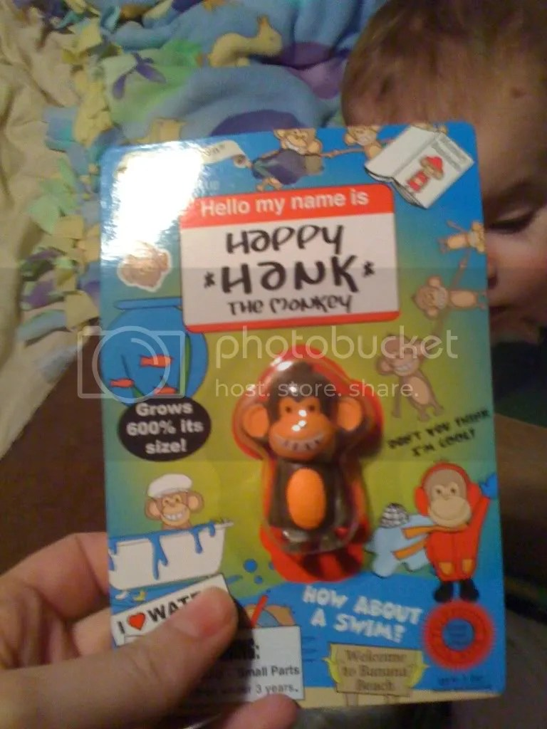 Hank the Monkey!  Baby Soups stuffed monkey is named Hank too...so this was perfect!