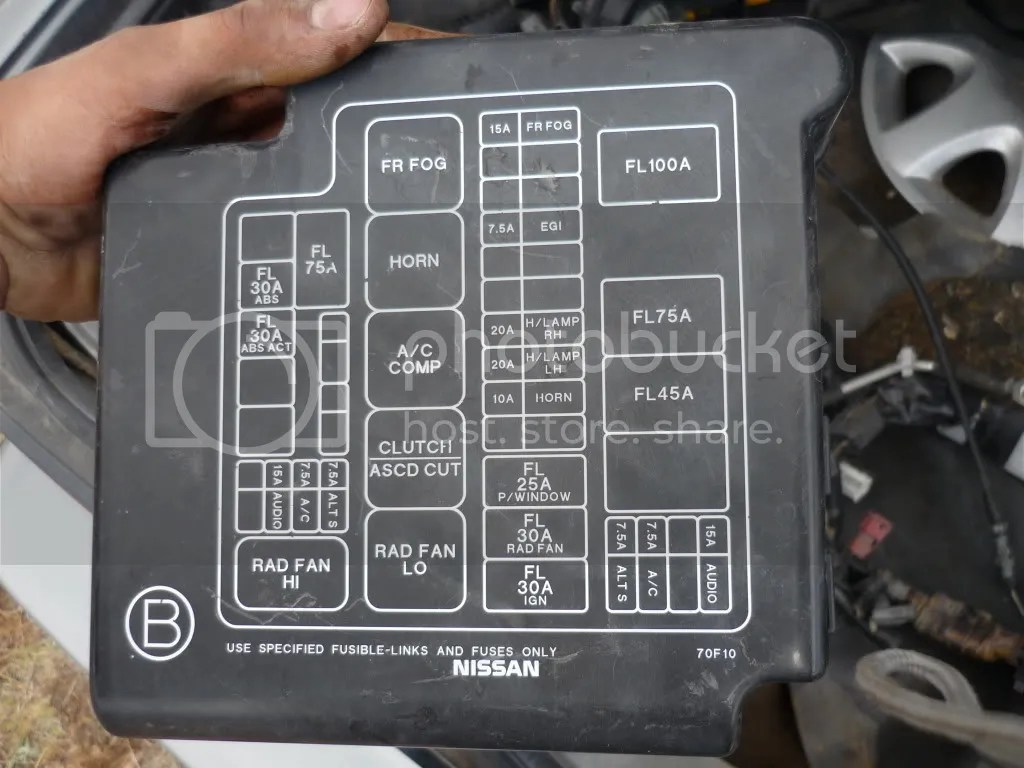 2003 Nissan Altima Fuse Box Cover